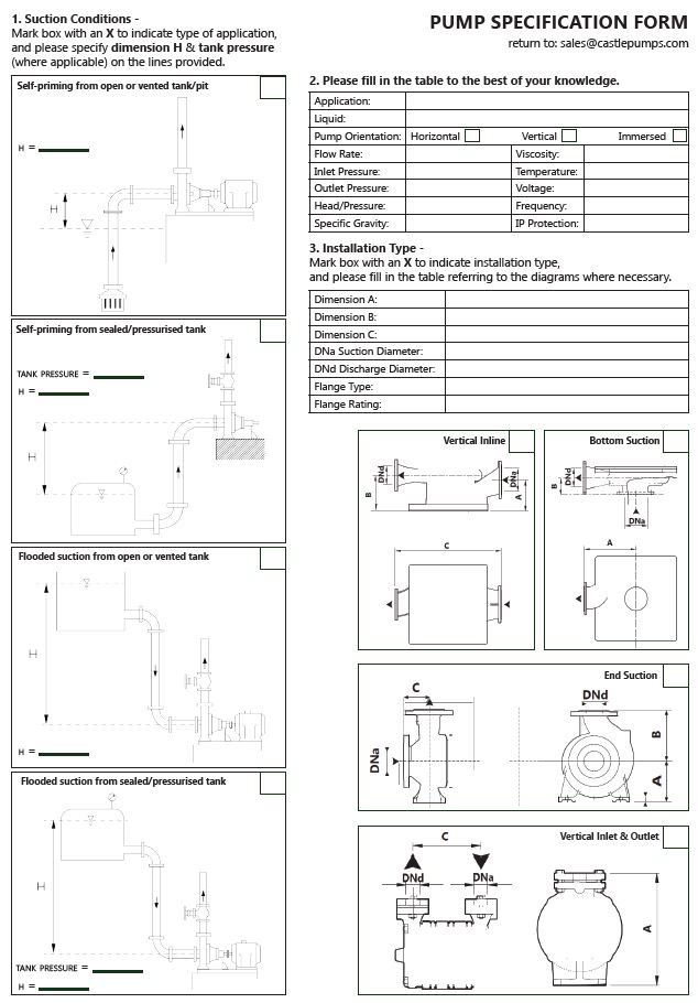 Pump Specification Form