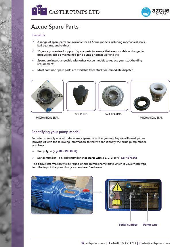 Azcue Pump Parts