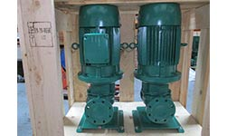 Seawater A/C Cooling for Offshore Support Vessel – Vertical Inline Pump