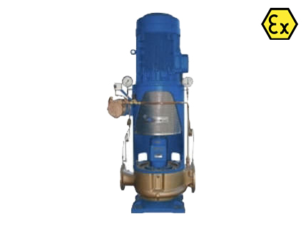 Azcue CM VP/EP ATEX Self Priming Vertical Inline Centrifugal Pump