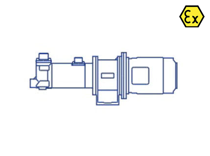 Azcue BT-HH ATEX Long Coupled Triple Screw Pump